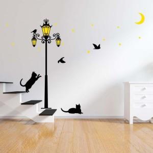 Stenska nalepka - Črni maček