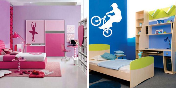 Otroška nalepka - Balerina in BMX